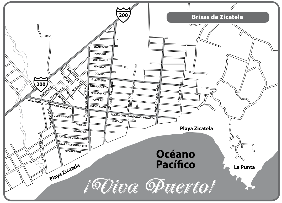 Map Puerto Escondido: La Punta