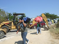 Blockade between Huatulco & Puerto Escondido