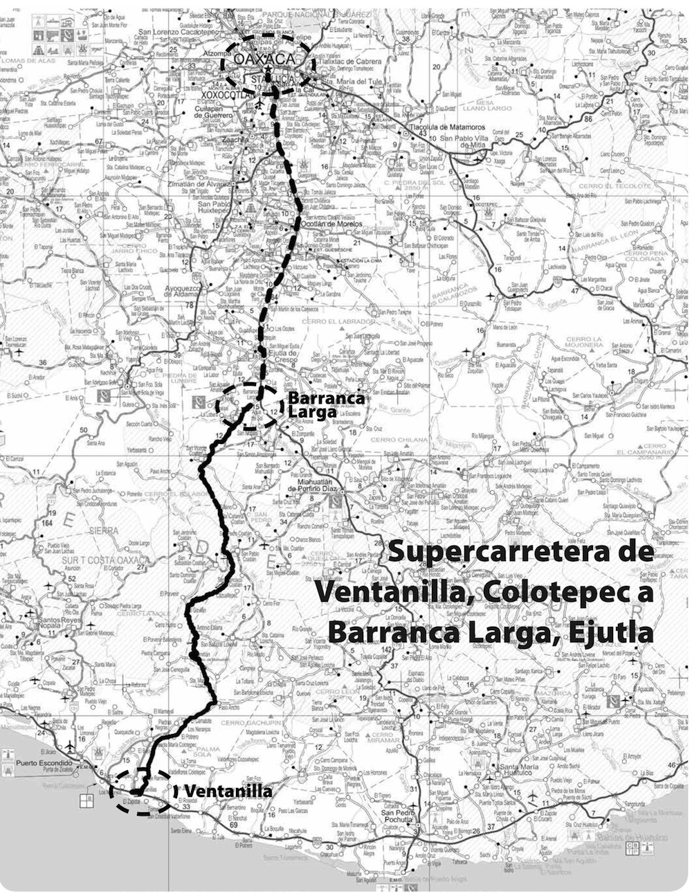 Super Highway Oaxaca to Puerto Escondido
